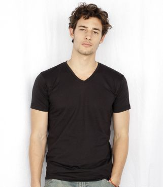 SF256 Skinnifitmen Fineweight V Neck T-Shirt