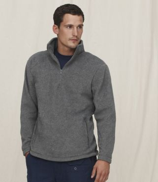 SS51 FRUIT OF THE LOOM Zip Neck Outdoor Fleece